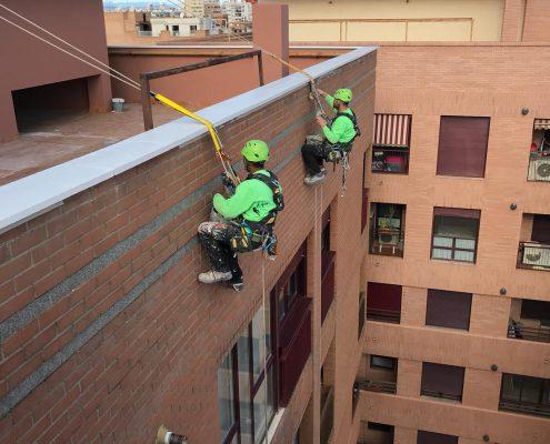 empresas trabajos verticales valencia, albardillas, rehabilitacion fachadas valencia