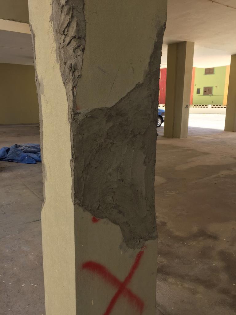 refuerzos de pilares, restauracion edificios, restauracion edificios valencia
